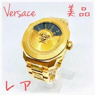 VERSACE - レア ヴェルサーチ 500本限定自動巻 ジャンピングアワー メンズ腕時計 鉄仮面