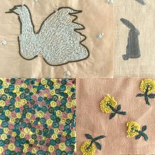 mina perhonen - はぎれセットSW1(スワンとウサギとお花)