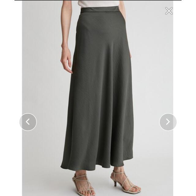 Mila Owen(ミラオーウェン)の新品 Mila Owen サテンバイアスロングスカート レディースのスカート(ロングスカート)の商品写真