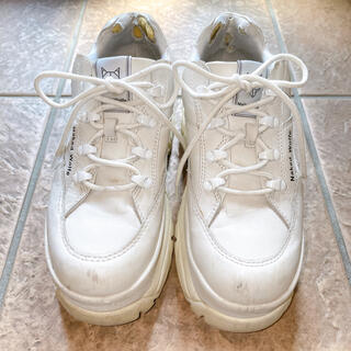 nakedwolfe sporty white leather ネイキッドウルフ
