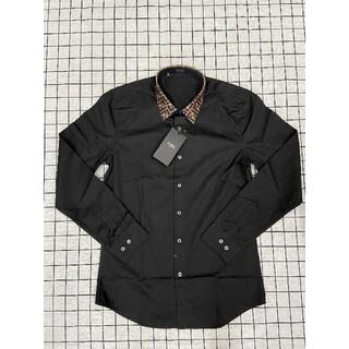FENDI - フェンディFendi シャツ ワイシャツ L ブラック