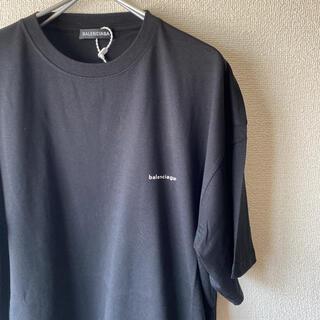 Balenciaga - 【期間限定セール】BALENCIAGA ロゴTシャツ S ブラック
