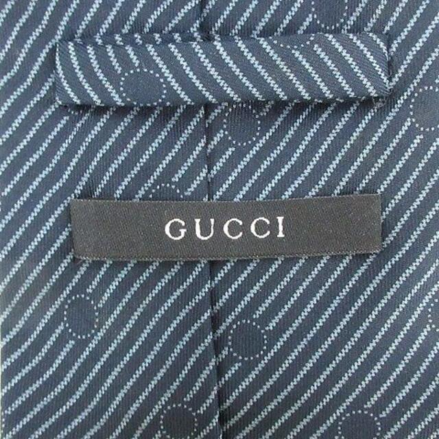 Gucci(グッチ)のグッチ GUCCI ネクタイ シルク 絹 総柄 紺 ネイビー  メンズのファッション小物(ネクタイ)の商品写真