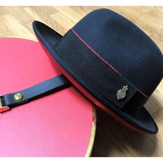 Borsalino(ボルサリーノ)のクリスティーズ★サリス・エプソム・Wフーデッド・ファーフェルト59 RED メンズの帽子(ハット)の商品写真