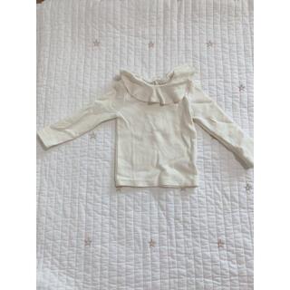 ザラ(ZARA)の韓国 襟フリル 長袖(シャツ/カットソー)