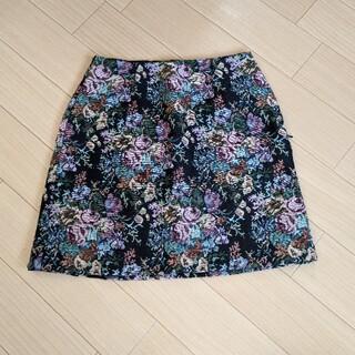 ジーユー(GU)の花柄スカート(ミニスカート)