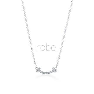 457.T smile CZ necklace mini【silver】