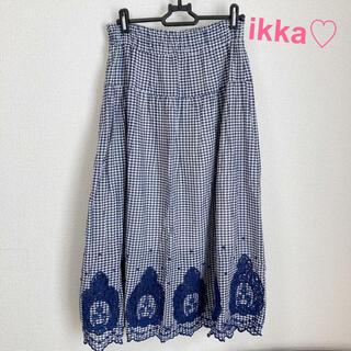 ikka - 4/16まで値下げ♡イッカ♡スカート♡ロングスカート♡チェック