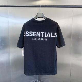 FEAR OF GOD - サイズS黒反射光りfogessentials Tシャツ