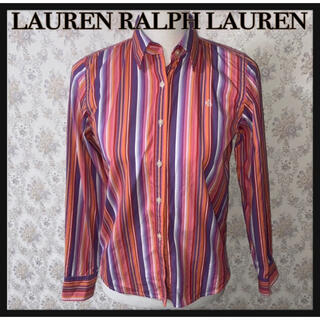 Ralph Lauren - RALPH LAUREN ストライプ柄シャツ 美品