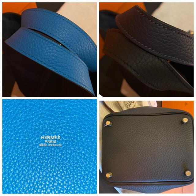 Hermes(エルメス)のエルメス カザック ピコタンロックPM ブラック ブルーニュイ ブルーザンジバル レディースのバッグ(ハンドバッグ)の商品写真