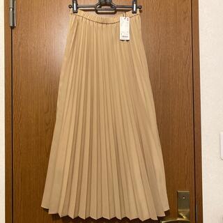 ユニクロ(UNIQLO)の新品❤︎ユニクロ❤︎プリーツスカート裏地付き綺麗ベージュ(ロングスカート)