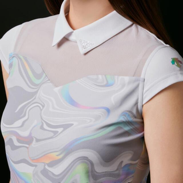 DESCENTE(デサント)のデサントゴルフ 21SS ボディシェルEX鹿の子シャツ スポーツ/アウトドアのゴルフ(ウエア)の商品写真