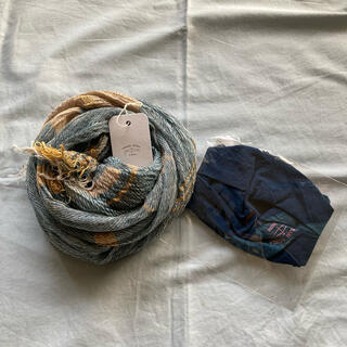 玉木新雌 roots shawl MIDDLE  &  ふわっタマスク 2
