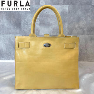 Furla - 【FURLA】フルラ イエロー レザー トートバッグ ハンドバッグ イタリア製