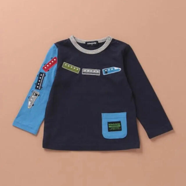 kladskap(クレードスコープ)の新品未開封 クレードスコープ 電車 Tシャツ キッズ/ベビー/マタニティのキッズ服男の子用(90cm~)(Tシャツ/カットソー)の商品写真