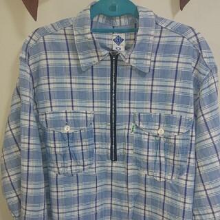 ポストオーバーオールズ(POST OVERALLS)のポスト×PKG、プルオーバーチェックシャツ、Lサイズ(シャツ)