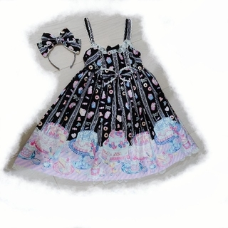 Angelic Pretty - AngelicPretty Whip Factory 黒 JSK ジャンスカ