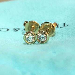 Tiffany & Co. - 0.1ctティファニー バイザヤード ピアス 750YG