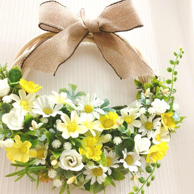 アーティフィシャルフラワーリース 母の日リース ハンドメイドのフラワー/ガーデン(リース)の商品写真