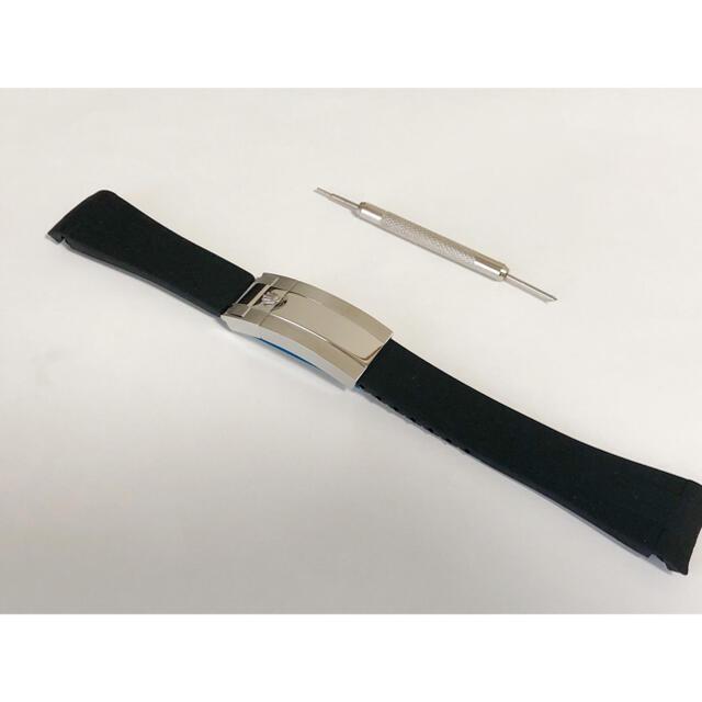 ROLEX(ロレックス)のROLEXロレックス専用バンド デイトナ サブマリーナ など 取付幅20mm メンズの時計(ラバーベルト)の商品写真