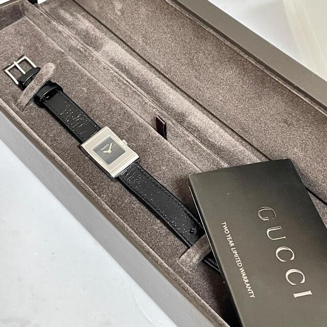 Gucci(グッチ)のグッチ時計 レディース腕時計 箱付き ブラック ブラック レディースのファッション小物(腕時計)の商品写真