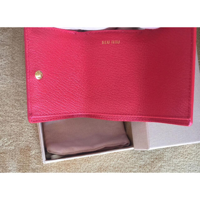 miumiu(ミュウミュウ)のmiumiu ラブレターミニ財布 レディースのファッション小物(財布)の商品写真