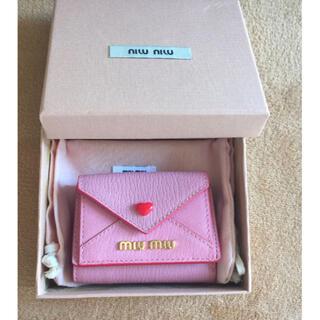 miumiu - miumiu ラブレターミニ財布