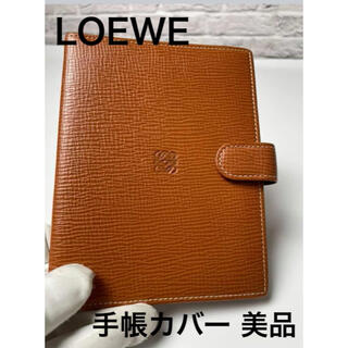 LOEWE - スペイン製 LOEWE (ロエベ)牛革 ライトブラウン 手帳カバー