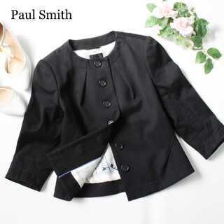 Paul Smith - ポールスミス★ノーカラージャケット 黒 40(M~L) 羽織 アウター