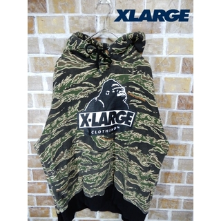 XLARGE - 【人気】即購入OK X-LARGE パーカー  カモ柄 ビックロゴ