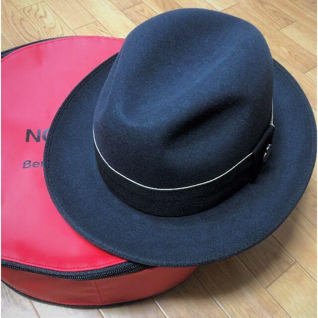 Borsalino(ボルサリーノ)のクリスティーズ★サリス・エプソム・Wフーデッド・ファーフェルト59 PUTTY メンズの帽子(ハット)の商品写真