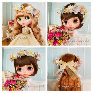 ブライスサイズ 蝶々と宝石の花かんむり 74番(人形)