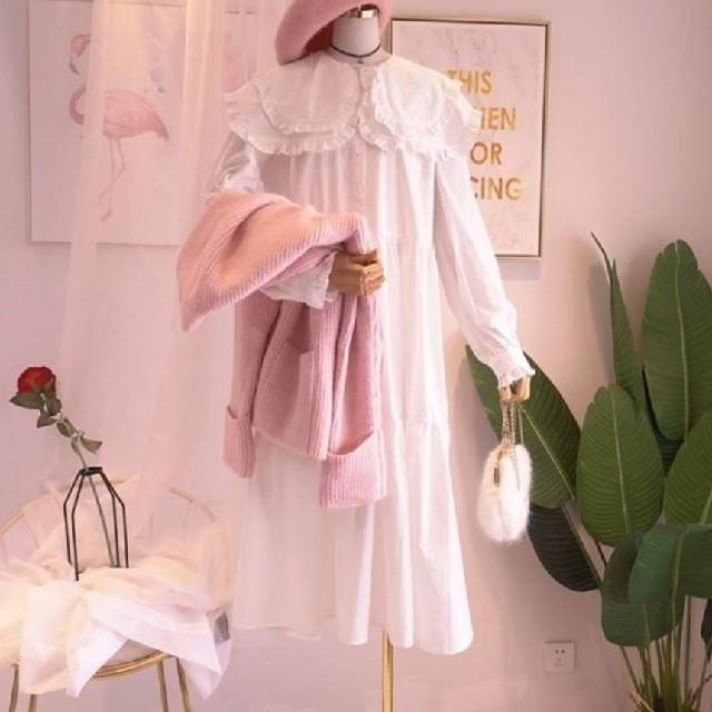 Lochie(ロキエ)のセーラー襟 フリル ワンピース 【3color・6size】 レディースのワンピース(ロングワンピース/マキシワンピース)の商品写真