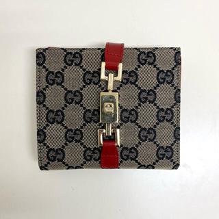 Gucci - GUCCI グッチ GGキャンバス 二つ折り財布