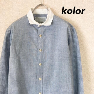 kolor - kolor カラー シャツ 日本製 古着 メンズ レディース 1 S