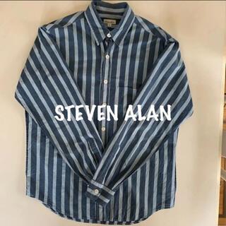 スティーブンアラン(steven alan)のsteven alan スティーブン アラン 長袖 シャツ M  ストライプ(シャツ)