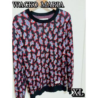 WACKO MARIA - 【美品】WACKO MARIA ペイズリー柄シルクニットセーター