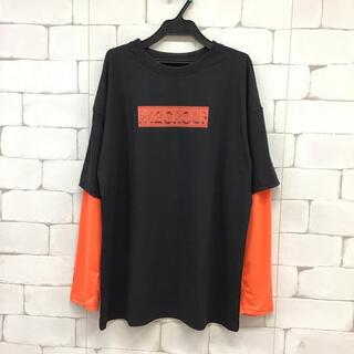 【同梱限定】韓国ロンT  F 黒オレンジ