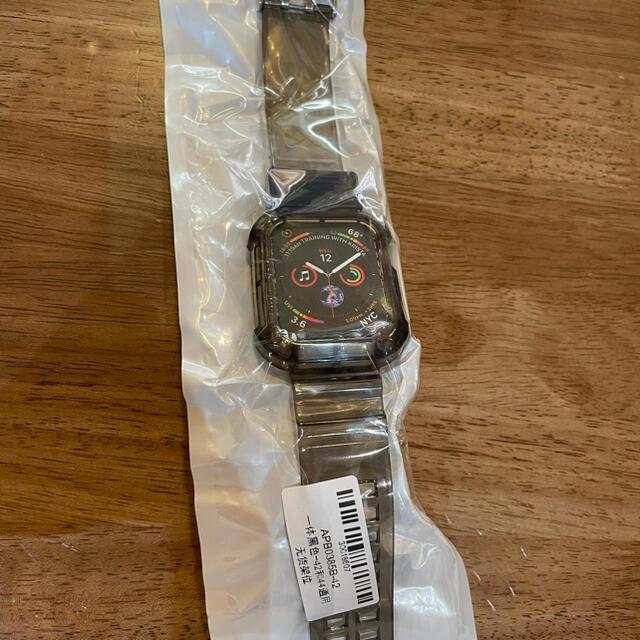 Apple Watch(アップルウォッチ)のApple Watch クリアバンド ブラック 42mm 44mm メンズの時計(ラバーベルト)の商品写真