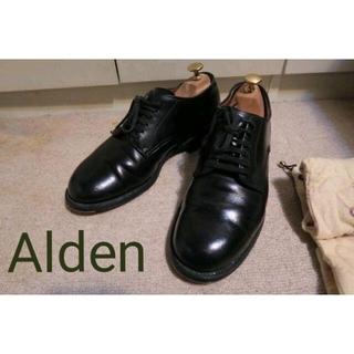 Alden - オールデン プレーントゥ 6.5 黒 Alden BEAMS別注