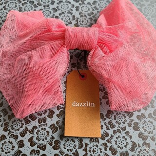 ダズリン(dazzlin)のふんわり大きなリボンバレッタ ピンク(バレッタ/ヘアクリップ)