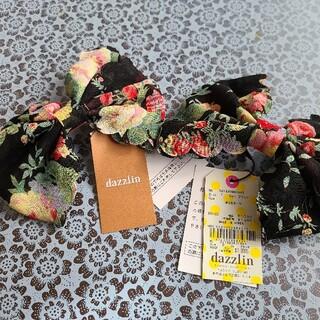 ダズリン(dazzlin)の新品&タグ付き ペアサテン生地の花柄 リボンバレッタ(バレッタ/ヘアクリップ)