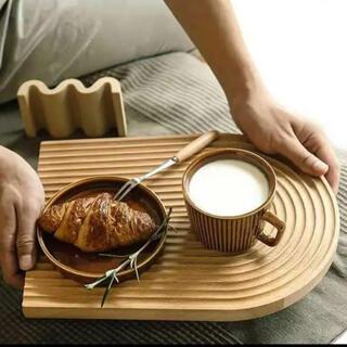 ウッドトレイ ウッドプレート 北欧 カフェトレー オブジェ ディスプレイ 木製(テーブル用品)