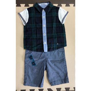 familiar - ファミリア 半袖シャツ ポロシャツ パンツ セット 90サイズ