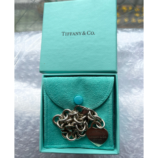 Tiffany & Co. - ティファニー、ハートプレート ごっついブレスレット