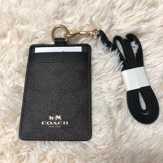 COACH - COACH シグネチャー IDカードケース パスケース ブラウン×ブラック