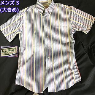 エルエルビーン(L.L.Bean)のL.L.Bean 90's ストライプ 半袖BD カジュアルシャツ S サイズ(シャツ)