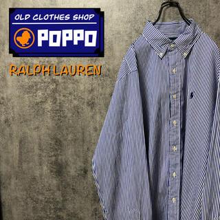 Ralph Lauren - ラルフローレン☆ワンポイント刺繍ロゴロンドンストライプシャツ