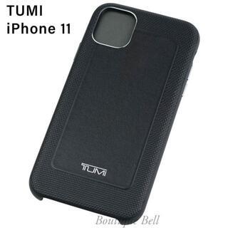 トゥミ(TUMI)の【TUMI】トゥミ レザー iPhone11 ケース ブラック(iPhoneケース)
